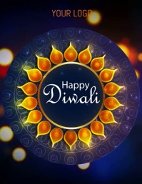 happy diwali Flyer (US Letter) template