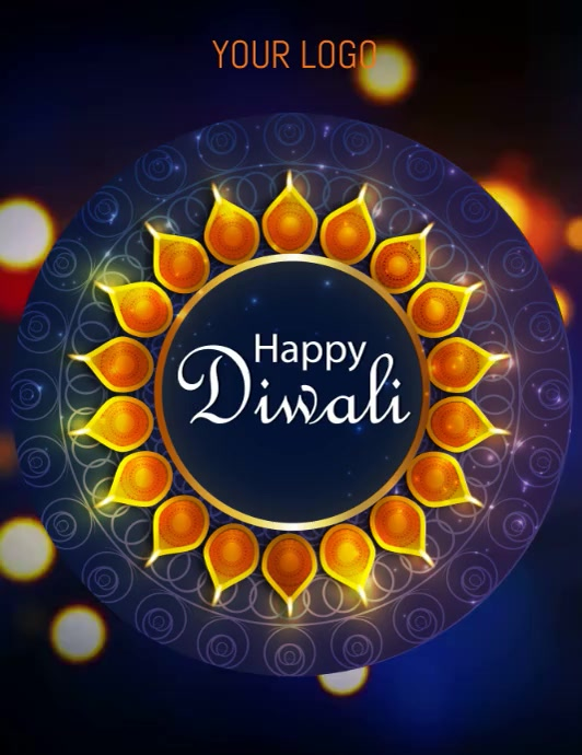 happy diwali Ulotka (US Letter) template