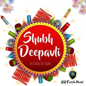 Happy diwali Square (1:1) template