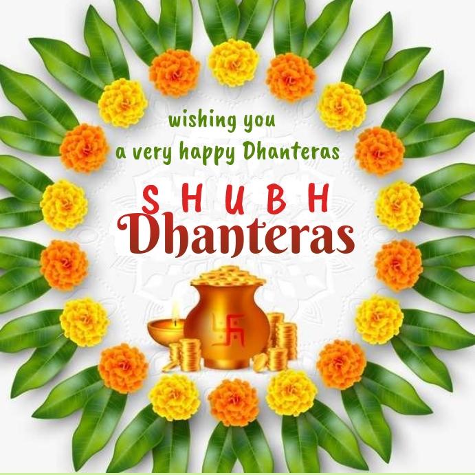 happy diwali Dhanteras wish Message Instagram template