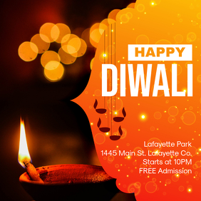 Happy Diwali Festival of Lights Advertisement Design Instagram Plasing template