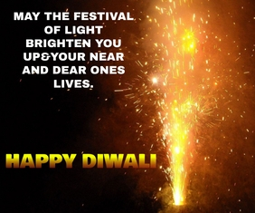 HAPPY DIWALI FIREWORK TEMPLATE Grand rectangle