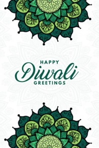 Happy Diwali Greetings Video Template Affiche
