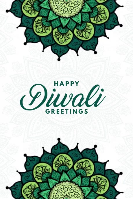Happy Diwali Greetings Video Template Poster