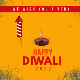 Happy diwali instagram post Instagram-bericht template