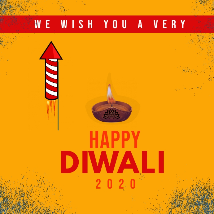 Happy diwali instagram post template