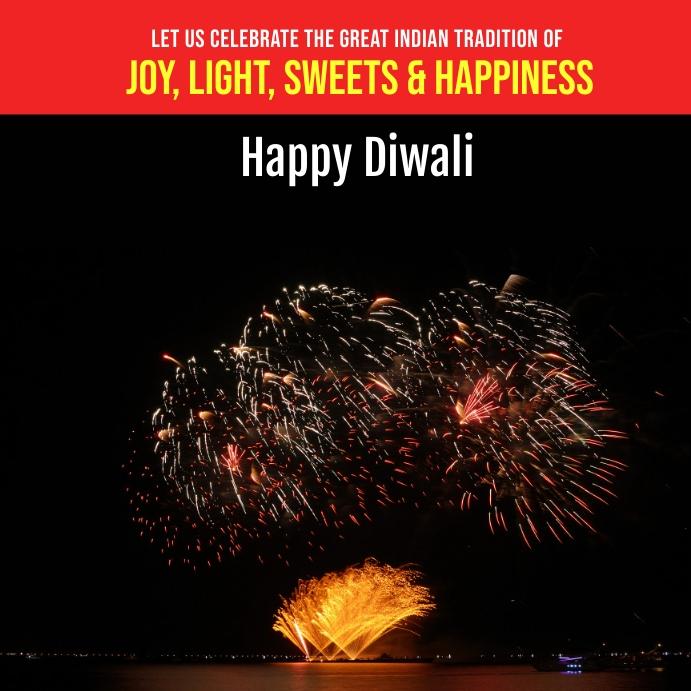 Happy diwali instagram post template