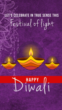Happy diwali instagram story template