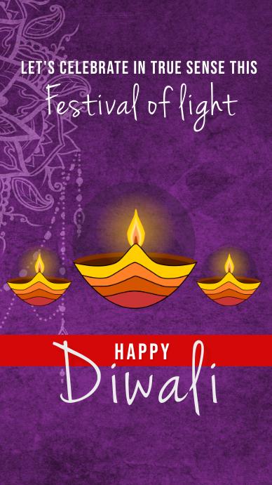 Happy diwali instagram story template