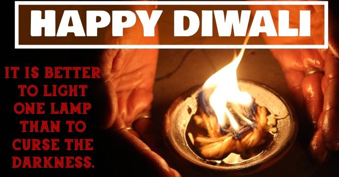 HAPPY DIWALI QUOTE TEMPLATE Couverture d'événement Facebook