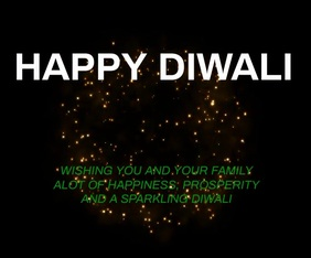 HAPPY DIWALI QUOTE TEMPLATE Rectángulo Grande