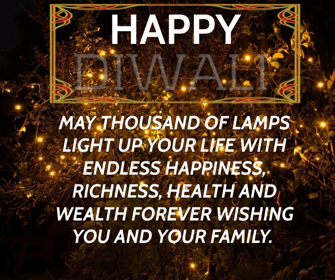 HAPPY DIWALI QUOTE TEMPLATE Duży prostokąt