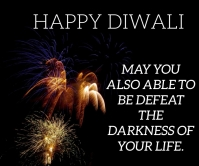 HAPPY DIWALI QUOTE TEMPLATE Grand rectangle