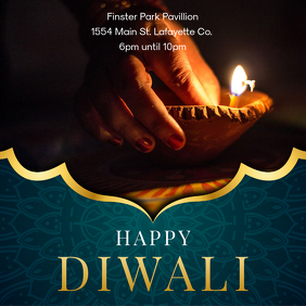 Happy Diwali Social Media Advertisement Template