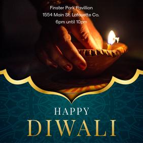 Happy Diwali Social Media Advertisement Template