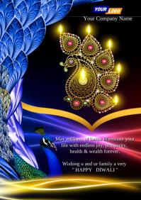 Happy Diwali Template A4