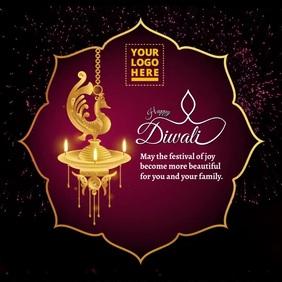 Happy Diwali video Instagram Plasing template