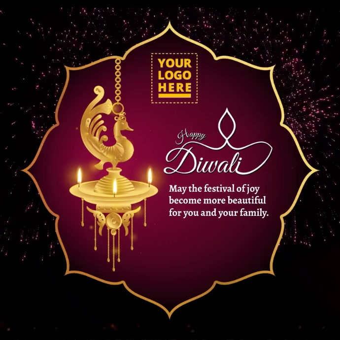 Happy Diwali video Message Instagram template
