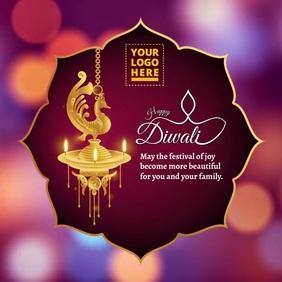Happy Diwali video Instagram Post template