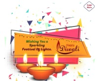 Happy Diwali Wishes Animated Gif Stort rektangel template