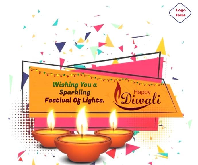 Happy Diwali Wishes Animated Gif สามเหลี่ยมขนาดใหญ่ template