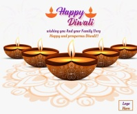 Happy Diwali Wishes Animated Gif Retângulo médio template