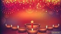 Happy Diwali Wishes Gif with Sound Ecrã digital (16:9) template