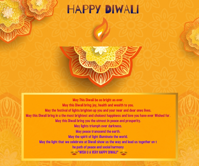 Happy Diwali Wishes Wallpaper Grand rectangle template