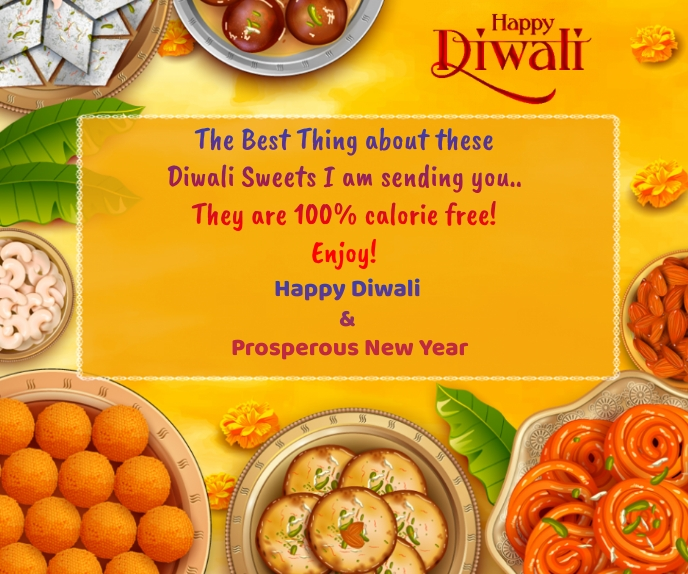 Happy Diwali Wishes Wallpaper Stort rektangel template