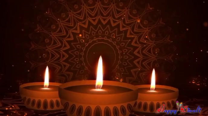 Happy Diwali Wishes With Sound Digital Display (16:9) template