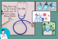 Happy Doctors Day Poster template