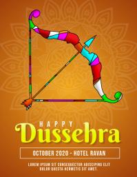 Happy Dussehra Flyer Orange Template