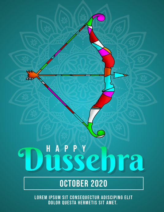 Happy Dussehra Flyer Template