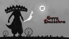 Happy Dussehra Wishes Gif With Sound Digitale Vertoning (16:9) template