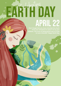 happy earth day A4 template