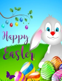 happy easter , easter egg Рекламная листовка (US Letter) template