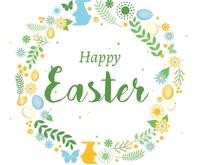 Happy Easter Background Umugqa Ophakathi template