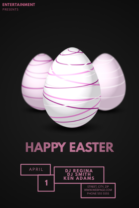 Happy Easter black flyer template