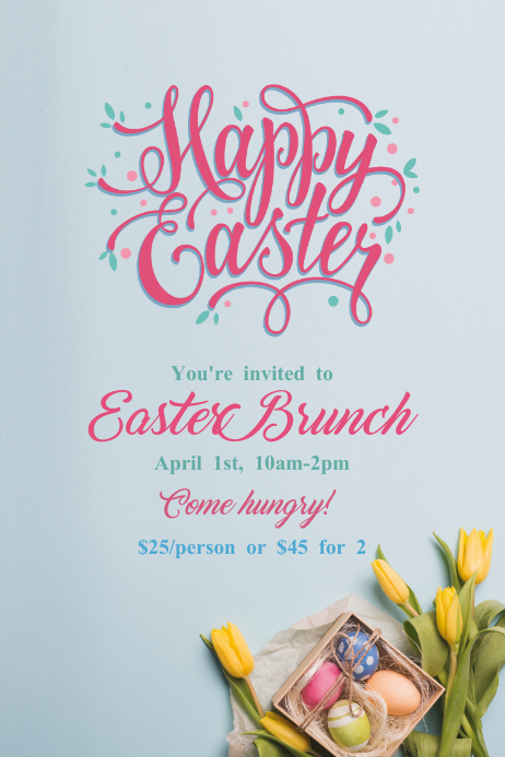 Happy Easter brunch