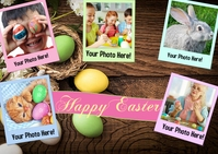 Happy Easter Card 明信片 template