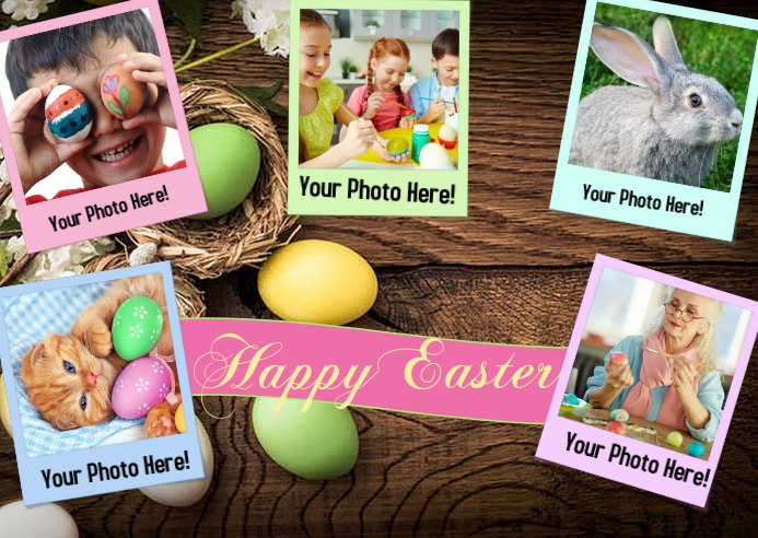 Happy Easter Card Kartu Pos template