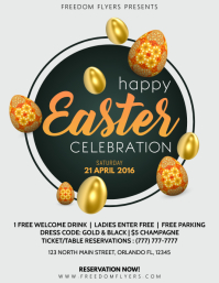 Happy Easter Celebration Flyer Template