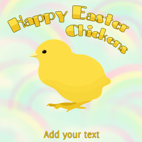 Happy easter chickens