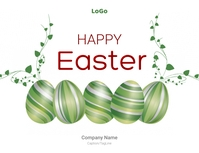 Happy Easter Corporate/Company Wishes Flyer template