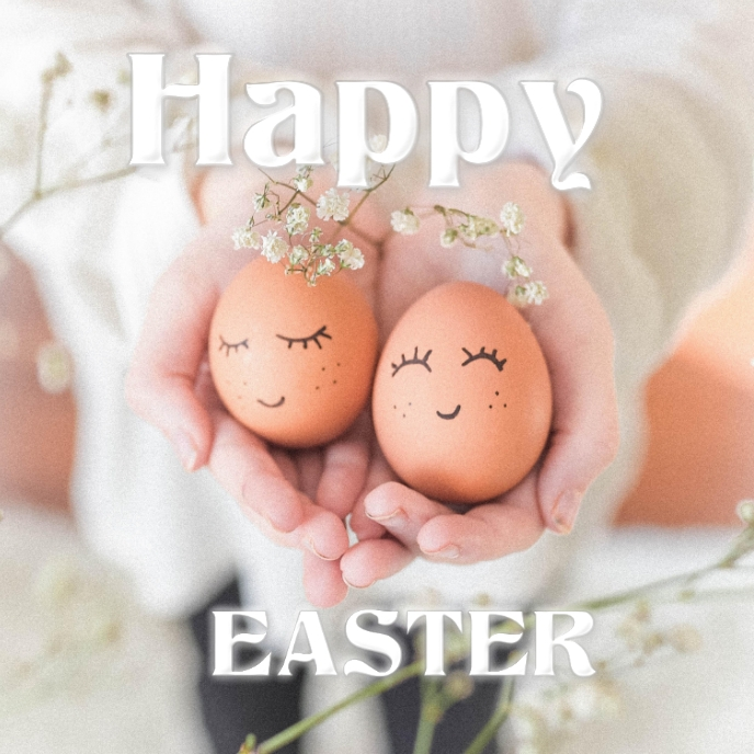 Happy Easter Cover ng Album template