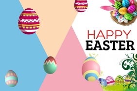 Happy Easter Баннер 4' × 6' template