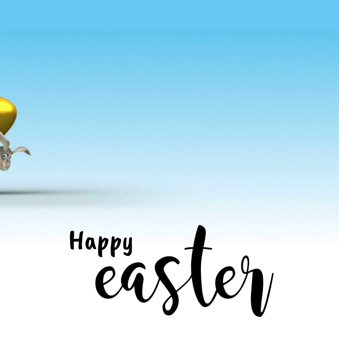 Happy Easter Square (1:1) template