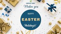 Happy Easter Digital na Display (16:9) template
