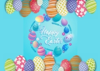Happy Easter Postal template
