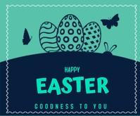 Happy Easter สามเหลี่ยมขนาดกลาง template